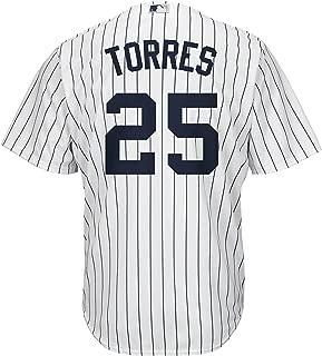 Gleyber Torres New York Yankees White Kids Cool Base Home Replica Jersey
