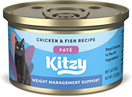 Amazon Brand - Kitzy Wet Cat Food, Chicken with Rice Paté, 3 oz cans, Pack of 24 (Kitten, Adult Cat, Sensitive Skin &...