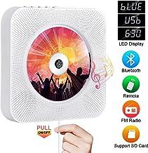Portable CD Player with Bluetooth, Qoosea Wall Mountable CD Players Music Player Home..
