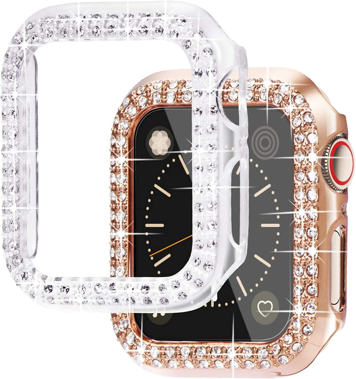 chenghuax Compatible with Max 51% OFF 38mm 40mm New mail order Cases Diamond 42mm 44mm