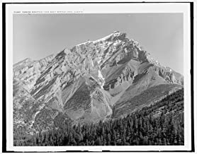 Vintography 16 x 20 Ready to Hang Canvas Wrap Cascade Mountain from Banff Springs Hotel Alberta 1902 Detriot Publishing 71a