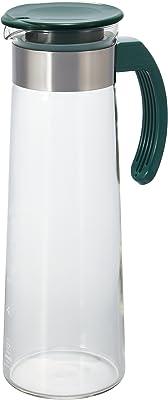 HARIO (ハリオ) 取っ手付き 水出し 茶ポット 1,000ml ダークグリーン MDH-10DG