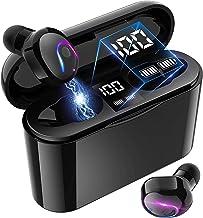 True Wireless Earbuds, Bluetooth 5.0 Headphone, in-Ear Button Control Hi-Fi Stereo Sound IPX5 Waterproof, Built-in Mic Ear...