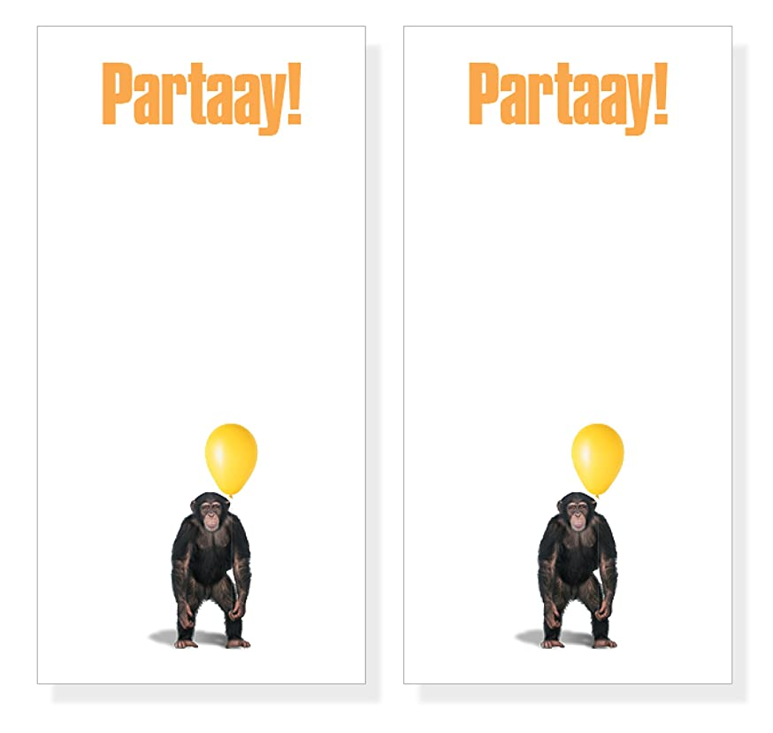 Monkey Notepad Listpad, Double Pack of 2 Note Pads