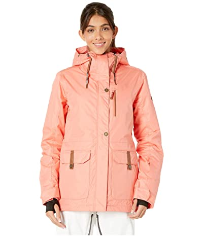 Roxy Andie Spindye Snow Jacket (Living Coral) Women