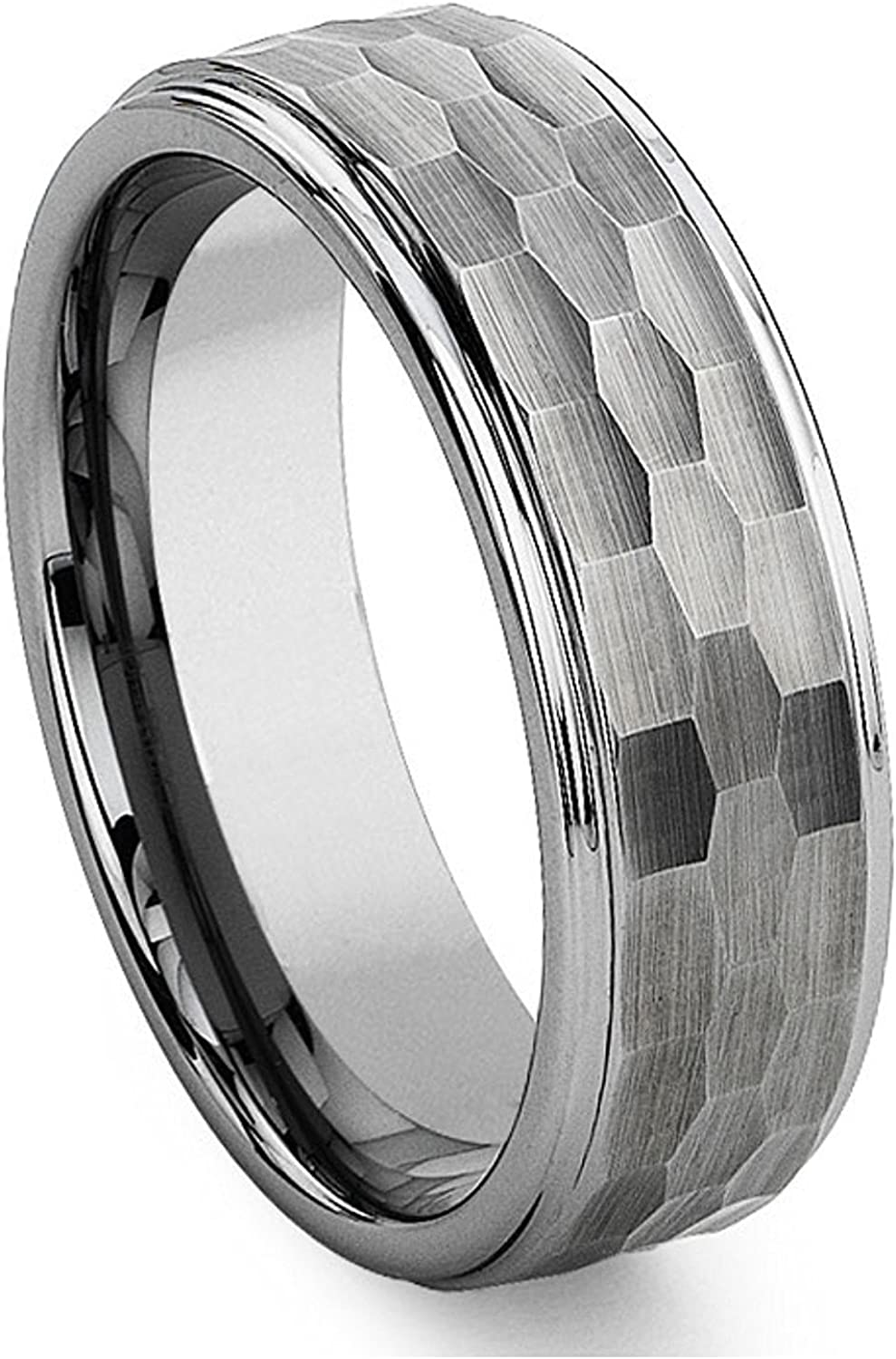 Milo Bruno - 8MM Hammered Center Tungsten Ring (Multiple Colors!)