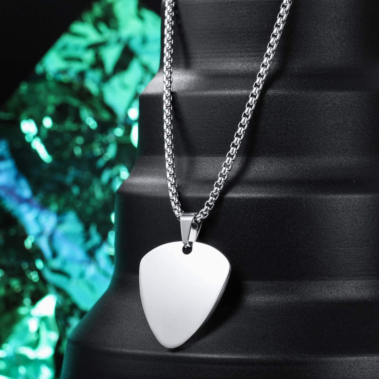 Buy MeMeDIY Personalized Guitar Pick Necklace Customize Chains for Men  Women Boys Girls Engraving Rock Pendant Gifts for Music Lovers Stainless  Steel Cool Jewelry Online in Taiwan. B071D8S8Q4