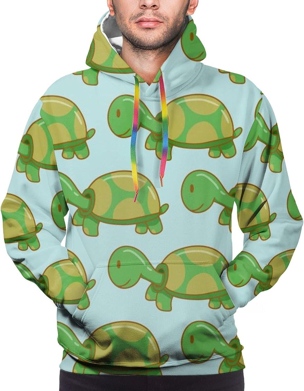Cartoon Green Cute Bargain Turtle Max 72% OFF Pattern Pullover Unisex Casua 3D Print