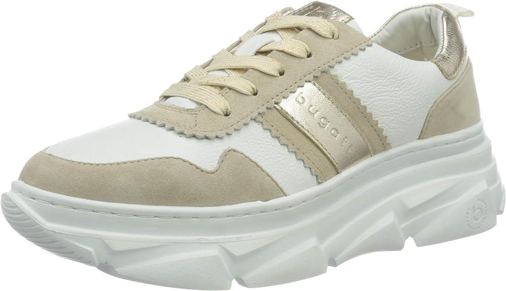 Bugatti ,scarpe sneakers per donna,in pelle 412844073410