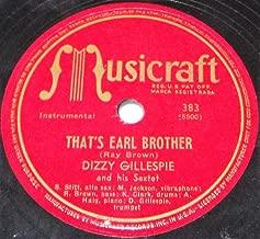That's Earl Brother b/w Oop Bop Sh' Bam 78rpm