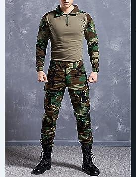 Juego De Chaqueta Y Pantalones Comando Diseno De Camuflaje Y Estilo Uniforme Militar Amazon Es Deportes Y Aire Libre