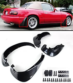 Cuztom Tuning Fits for 1990-1997 Mazda Miata NA JDM 4pcs Front & Rear Splash Mud Flaps Guards Set