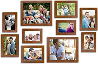 Art Street Enchantment Set of 10 Individual Photo Frame/Wall Hanging for Home Décor - Brown