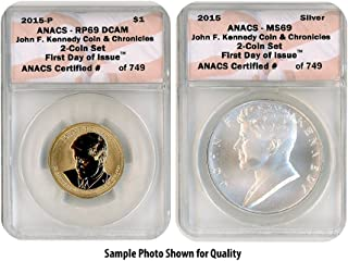 2015 P John F. Kennedy Two Coin Set RP69