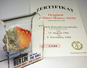 Original Piece of the REAL BERLIN WALL Mounted in Acrylic Display with Certificate of..