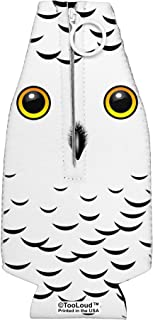 TooLoud Snowy Owl Cute Animal Face Collapsible Neoprene Bottle Insulator All Over Print