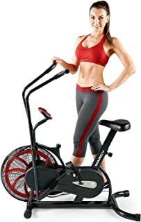 Marcy Fan Exercise Bike with Air Resistance System – Red and Black – NS-1000 (Renewed)