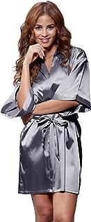 Best white satin short robe Reviews