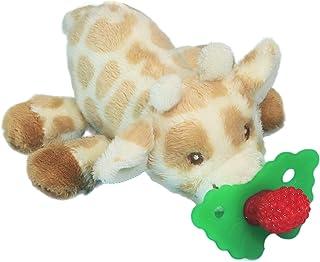RaZbaby RaZbuddy RaZberry Teether/Pacifier Holder w/Removable Baby Teether Toy - 0M+ - Bpa Free - Giraffe