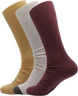 Soxmile Men's Kingsize Casual Socks Melange Retro Ribbed 3pk