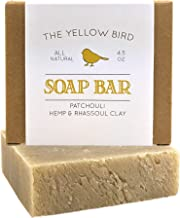 Patchouli Soap Bar. Hemp Oil & Rhassoul Clay Soap. Detoxifying Face & Body Cleanser. Natural, Vegan, Organic Ingredients. Includes Pure Essential Oils. GMO Free