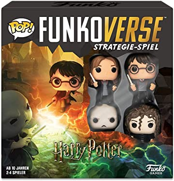 Funko 43477 Harry Potter 100 Funkoverse (4 Characters Pack) Board Game, German Version, Multi Color