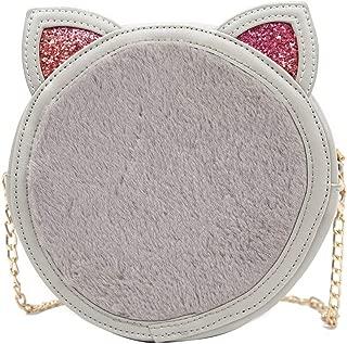 Kwok Women Small Bag Female Tide Cute Wild Plush Messenger Bag Chic Chain Bag Crossbody Bag Wallet Mobile Phone Bag