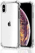CT-HEXAGON Schutzhülle kompatibel iPhone XS Max, Hülle Transparent, Anti-Gelb, Durchsichtige Schutzhülle TPU SilikonStoßfest - Dünn - Verstärkte Ecken