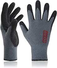 DEX FIT Warm Fleece Work Gloves NR450, Comfort Spandex Stretch Fit, Power Grip, Thin & Lightweight, Durable Nitrile Coated, Machine Washable, Grey X-Large 3 Pairs Pack