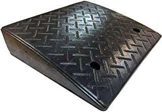 """Electriduct 4.3"""" Lite Duty Rubber Curb Ramp 10,000 lbs Weight Capacity (5 Tons) (2-Pack)"""