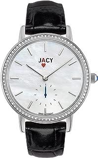 Womens Luxury Diamond Watch - Swiss Quartz Watch with Real Diamonds - Silver Stainless Steel