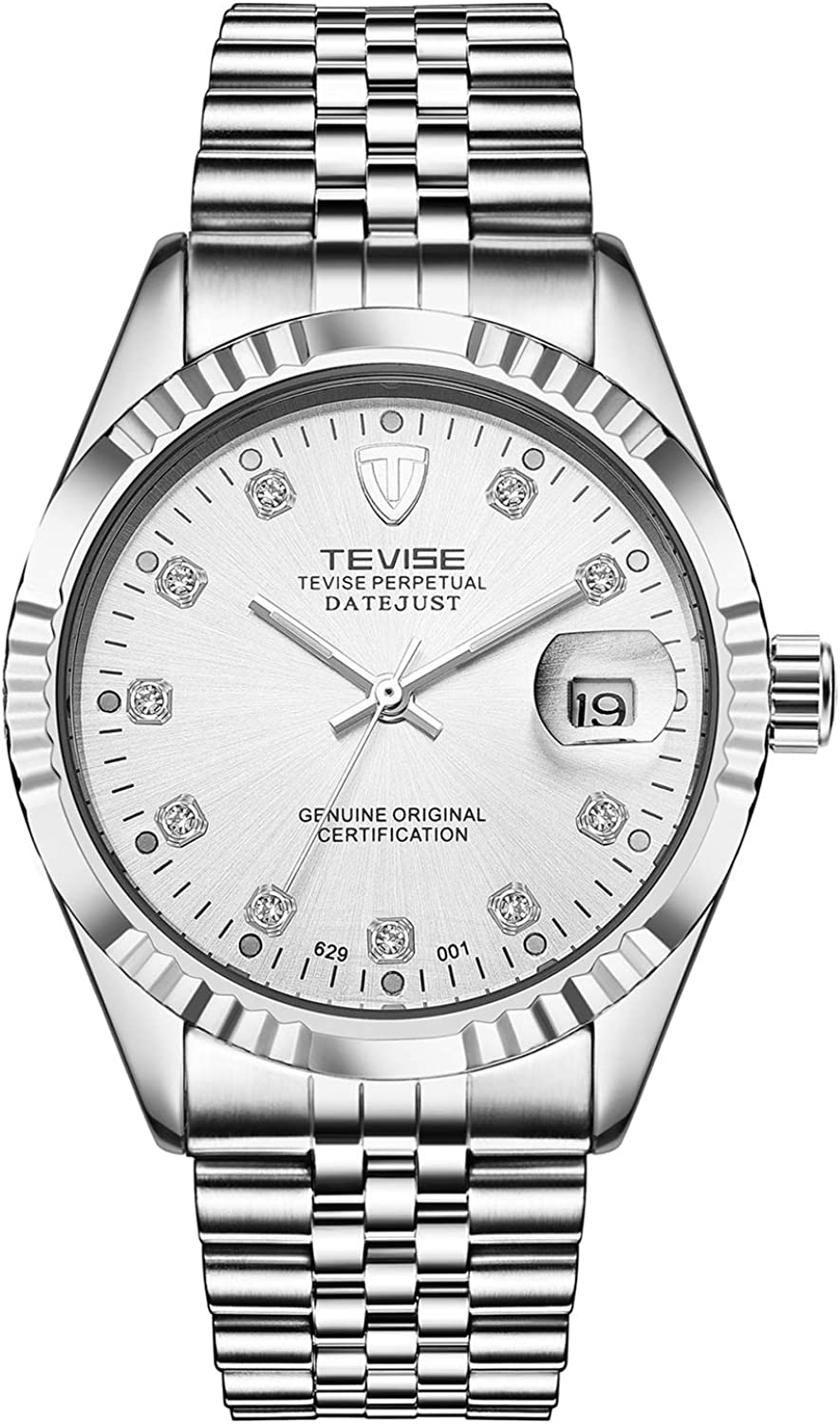 Watch Men Multifunctional Lightweight Business Commute Stainless Watch with Storage Box Mechanical Watch for, Fashion Watch (color   White, Size   Free)