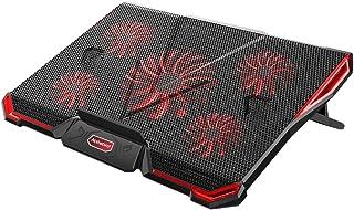 Refroidisseurs pour Ordinateur Portable 12 à 17.3 Pouces, Refroidisseurs Rapide pour Ordinateur avec 5 Ventilateurs Silenc...