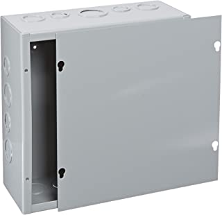 BUD Industries JB-3960-KO Steel NEMA 1 Sheet Metal Junction Box with Knockout and Lift-Off Screw Cover, 10