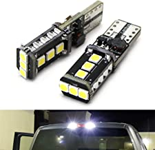 iJDMTOY (2) Xenon White High Power 9-SMD 906 912 920 921 T15 LED Replacement Bulbs For Chevrolet Dodge Ford GMC Honda Nissan Toyota Truck 3rd Brake Lamp Cargo Lights