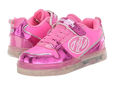 Heelys Boom X2 (Little Kid/Big Kid) (Fuchsia/Pink/Silver) Girl