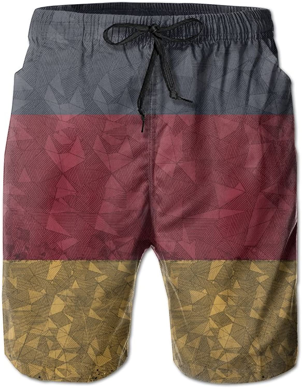 d9b60466735e3 HFSST Flag Flag Flag of Germany Grunge Style Creative Geometric Summer  Swimming Trunks Beachwear Shorts 132cf8