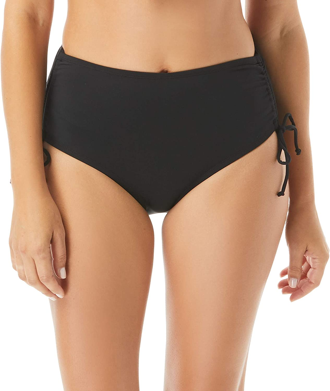 BEACH HOUSE Side Tie Bikini Bottom — Modest High Waisted Bikini Swim Bottom, Hayden