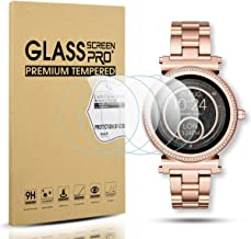 Diruite 4-Pack for Michael Kors Access Sofie Tempered Glass Screen Protector for MK Sofie..