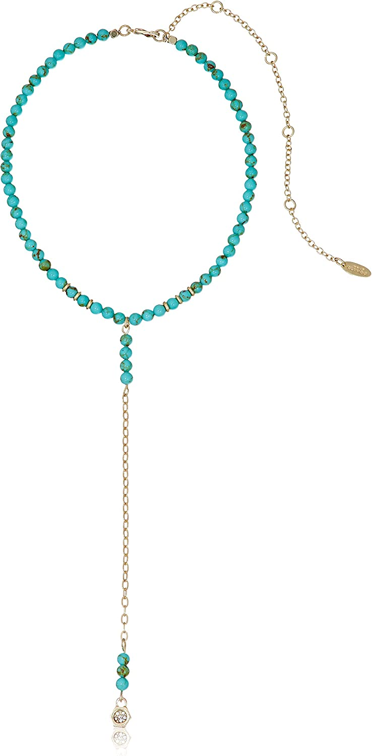 Ettika Call Me Maybe in Turquoise with Disc Choker Necklace, 12