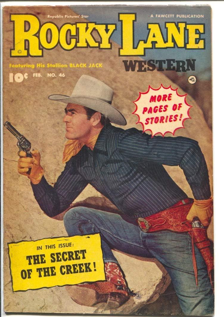 Rocky Lane Western #46-1953-Fawcett- star Deluxe photo B-Western movie Import