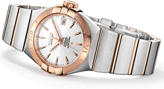 Women's Automatic Wrist Watch ROCOS Rose Gold Dress Watch with Stainless Steel and White Dial Ladies Crystal Analog Watches Luxury Classic Elegant Gift #R1101L
