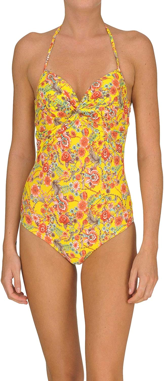 TwinSet Women's MCGLCST000005026E Yellow Polyamide OnePiece Suit