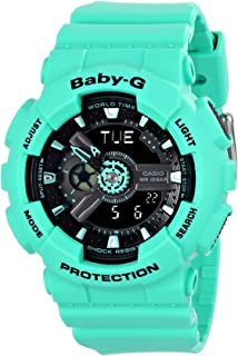 Casio Women's BA-111-3ACR Baby-G Analog-Digital Display Quartz Teal Watch