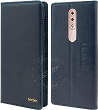 Jkobi Leather Stitch Flip Case Cover for Nokia 4.2 -Blue
