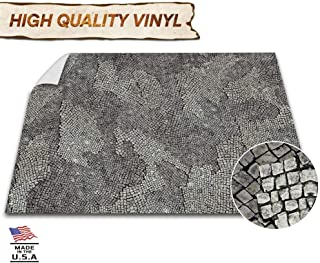 Battle Game Mat - 48x48 - Dungeons & Dragons Tabletop Role Playing Map - Wargaming DnD - RPG Dust Warfare & Flames of War - Miniature Figure Board Games - 40k Warhammer Gaming Vinyl (Cobblestone)