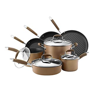 Advanced 11 Piece Stainless Steel Non Stick Cookware Set