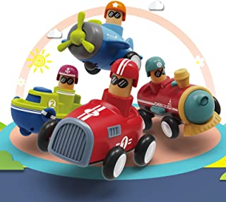 Baby Car Push Toy for Toddlers Age 1 2 3, Press Go...