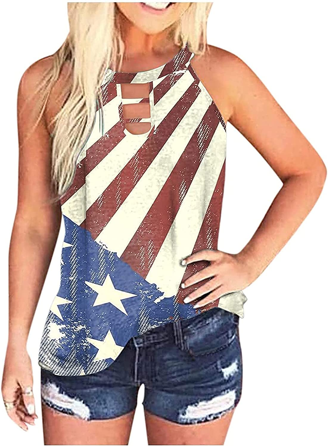 ovticza 4th Louisville-Jefferson County Mall of store July Tank Tops Fashion for Women Casual Loose Sle