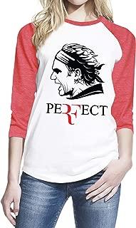 Roger Federer Perfect Tennis Player Women Baseball Shirt